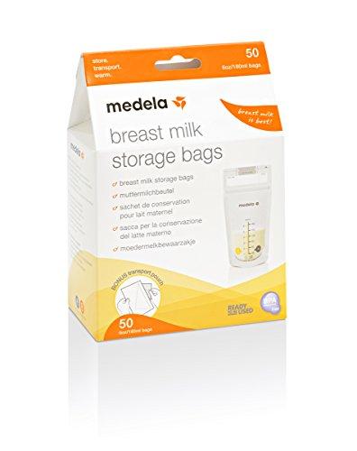 Medela - Bolsas de almacenamiento para conservar y congelar leche materna Medela, 50 unidades, 180 ml