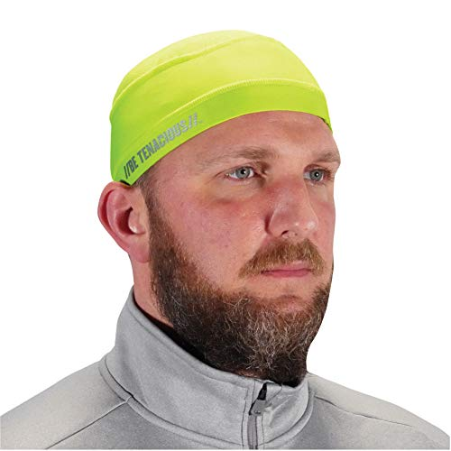 Ergodyne Chill Its 6632 Cooling Skull Cap, Sweat Wicking Helmet Liner, UPF 50 Sun Protection