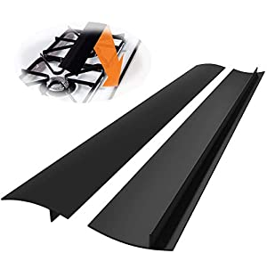Novsix Silicone Stove Gap Covers, 25 Inch Long 2 Pack Heat Resistant Gap Filler, to Seal gap of Stove Top, Counter, Oven, Dishwasher safe