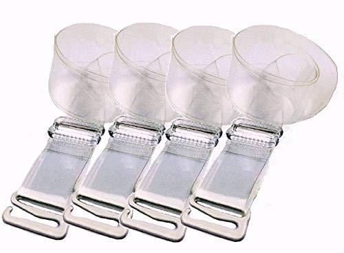 3 Paare BH-Träger Damen Durchsichtig Unsichtbar Transparent Einstellbar Träger Metaller Haken Ersatzträger Bra Shoulder Straps 20mm