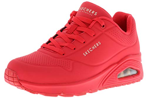 Skechers Damen UNO Stand ON AIR Sneaker, Rot Red Durabuck Red, 38 EU