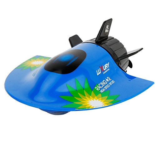 sgtrehyc SGT® Barco RC Mini Submarino Mini RC Submarino eléctrico teledirigido Submarino Sightseeing Boat Modelo de Juguete (baterías no Incluidas) (B)