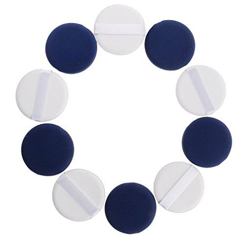 Sharplace 10x Puff Maquillage Blender Foundation Eponge Reutilisable pour Fond de Teint Poudre Crème Facial - 5.4x5.4 cm - D