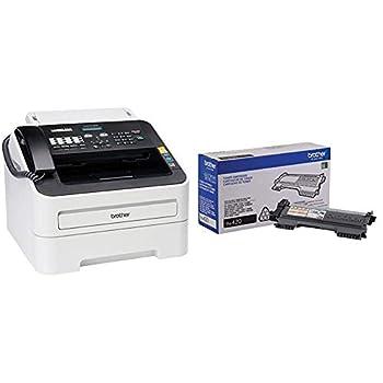 Brother FAX-2840 High Speed Mono Laser Fax Machine Dark/Light Gray - FAX2840 & TN-420 DCP-7060D Toner Cartridge  Black  in Retail Packaging