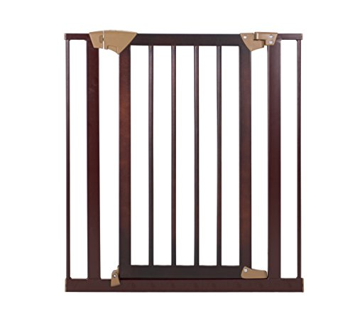 Baby Trend Tall Pressure Fit Wood and Metal Gate,...