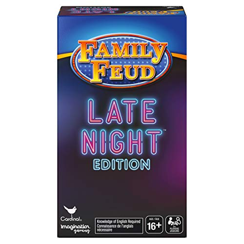 Spin Master Family Feud Late Night Edition Adult Party Quiz Game Multicolor
