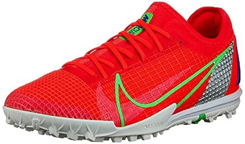 Nike Unisex Mercurial Vapor 14 Pro Tf Fußballschuhe, Bright Crimson Metallic Silver Indigo Burst White Rage Green, 44 EU