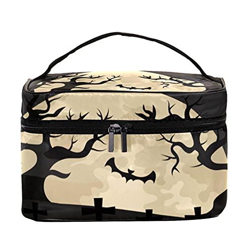 Bolsas de maquillaje para mujeres y nis Estuche organizador de cosmicos de mano bolsa portil de viaje bolsa de aseo de Halloween terror linterna vela, Multicolor 8 Neceser