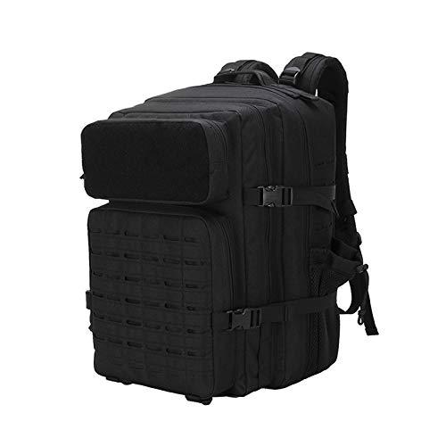 SUBMARINE Mochila militar para hombre de 45 l, gran mochila de senderismo, militar, táctica, para camping, senderismo, caza, actividades al aire libre (45 L, negro)