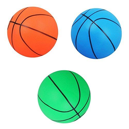 F Fityle Mini Baloncesto 3pcs para Regalo de Juguete Deportivo Al Aire Libre para Niños, PVC 3 Colores
