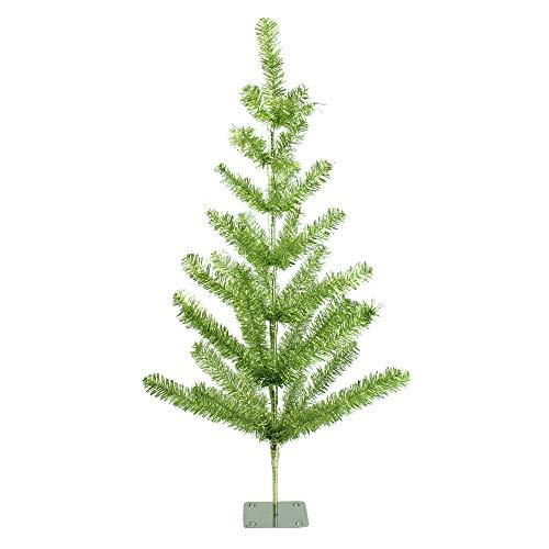 Northlight 3' Medium Green Tinsel Pine Twig Artificial Christmas Tree - Unlit