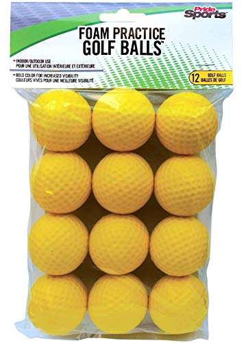 Why Choose PrideSports Practice Golf Balls, Foam, 12 Count, Yellow (3 Packs)