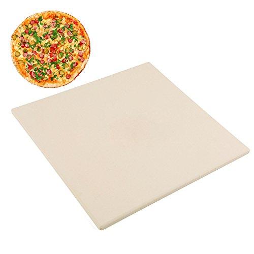 """waykea 12Zoll quadratische Cordierit Backen Pizza Stein für Grill oder Ofen 12"""" Square Stone hellgelb"""