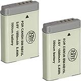 BM Premium 2-Pack of NB-13L Batteries for Canon PowerShot SX740 HS, G1 X Mark III, G5 X, G5 X Mark II, G7 X, G7 X Mark II, G7 X Mark III, G9 X, G9 X Mark II, SX620 HS, SX720 HS Digital Cameras