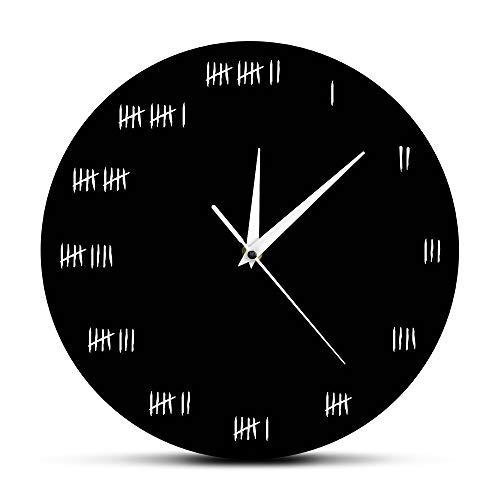 Wanduhr Humorvolle Wohnkultur Einfach gestaltete Alcatraz Wanduhr Gefängnis Wand Inspirierte Uhr Wanduhr Uhr Unterdrücker Zeitmesser Schön und langlebig Einfach zu bedienen