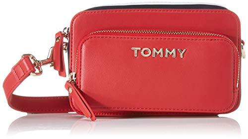 Tommy Hilfiger Th Corporate Camera Bag, Borse Donna, Multicolore (Barbados Cherry), 7.5x0.1x17.5 centimeters (W x H x L)