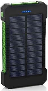Kraftbank Power Bank Vattentät 30000mAh laddare 2 USB-portar Extern laddare (Color : Green)