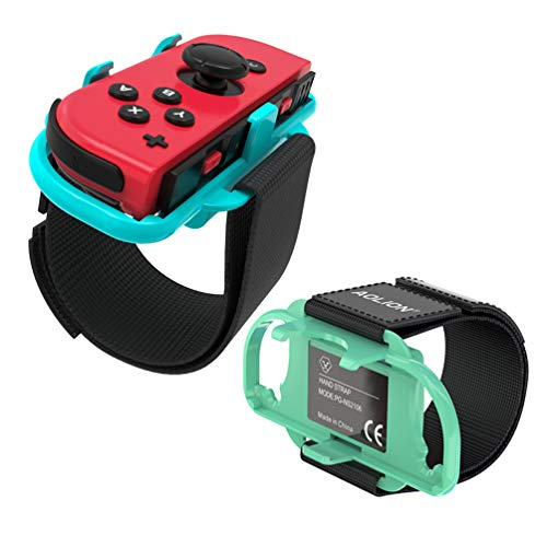 2 Pack.Upgraded Wrist Bands for Just Dance 2021 2020 Nintendo Switch, Adjustable Elastic Dance Straps for Switch Joy-Con Controllers, Fit for Adults and Children (Animal Crossing Blue and Green)