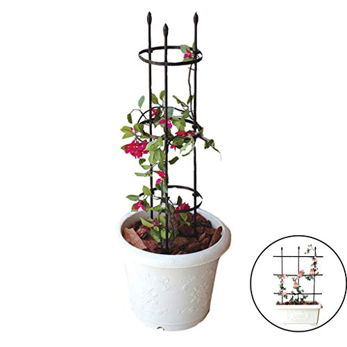 MYHZH Garden Trellis Obelisk Plant Support Plant stand Wire Lattice Grid Panel Stake Fence, for Climbing Plants, Potted Vines Vegetables (2 Use)