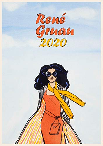 Calendario de pared 2020 [12 páginas 8 x 11 pulgadas] Fashion Lady por Rene Gruau Vintage Magazine Illustration
