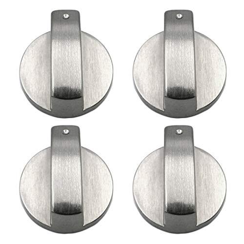 Metal 6mm Universal Silver Gas Adaptadores de Perillas de Control de la Estufa Interruptor de Horno, Cocina, Cerraduras de Control de Superficie (6MM)