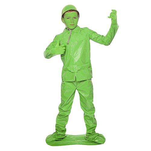 Soldato Salvate il soldato Morph Fancy Dress Morphsuits bambini (S, 6-8 anni, Verde)