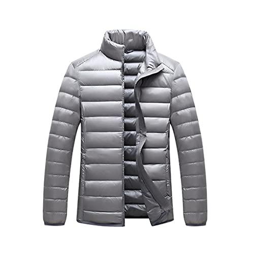 XYZMDJ Otoño invierno ultra-delgado de la chaqueta abajo Moda collar Soporte bajo peso ligero juvenil Escudo de los hombres delgados de chaquetas (Color : C, Size : X-Large)
