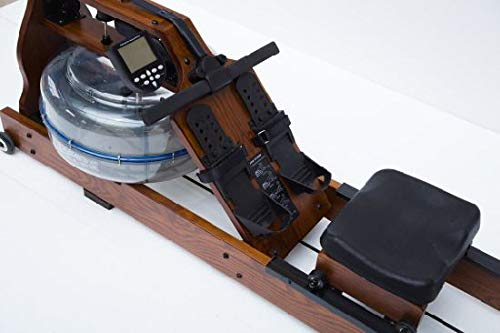 TUCANA Wooden Water Rower Rowing Machine with Bluetooth Monitor and Iphone holder