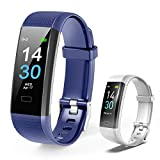 Toplus Fitness Tracker, Activity Tracker GPS Smart Watch, Health & Fitness Band with Heart Rate Monitor IP68 Waterproof, 16 Sport Modes, Step Counter Sports Watch for Men and Women (Navy+White)