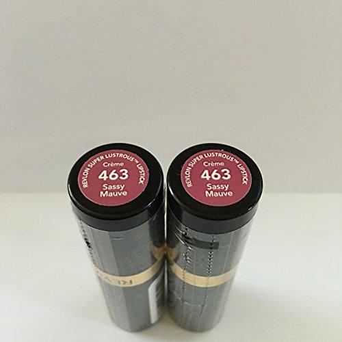 Revlon Super Lustrous Lipstick with Vitamin E and Avocado Oil, Cream Lipstick in Mauve, 463 Sassy Mauve, 0.15 oz (Pack of 2)