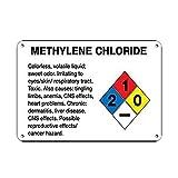 HNNT Señal de Metal 8 x 12 Pulgadas de cloruro de metileno irritante de Ojos, Piel, tracto respiratorio