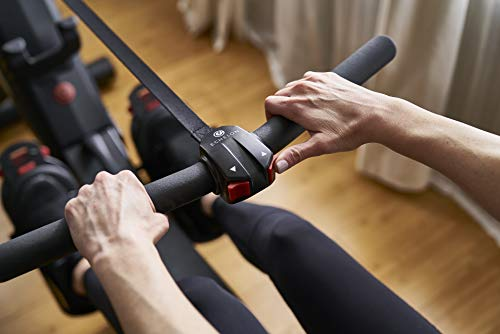lady working out at home on a Echelon Rower
