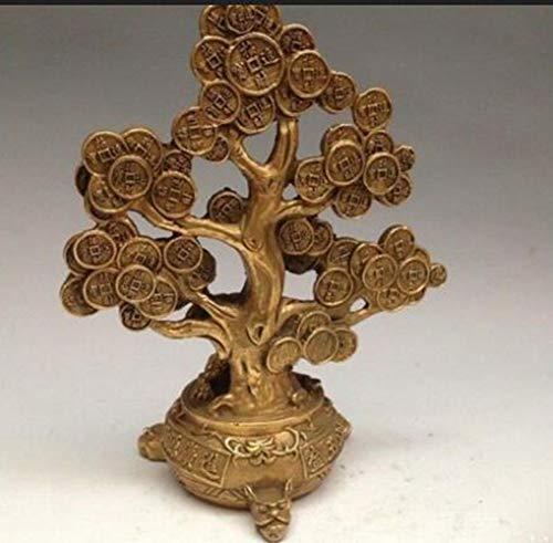 DOGOGO Feng Shui - Estatua de árbol de la Prosperidad con Moneda de Oro y Bronce para decoración del hogar, Null, Talla única
