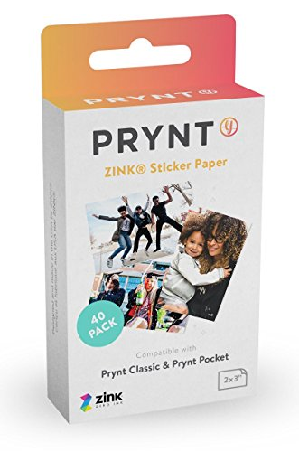 Learn More About Prynt, 2x3 inch ZINK Sticker Paper for The Prynt Pocket and Prynt Classic Instant P...