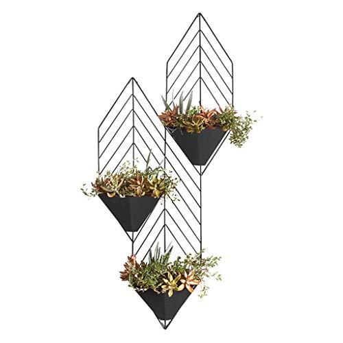 Estantes para Plantas Soporte para Flores Soporte Creativo De La Flor del Metal, Soporte De Flor Pequeño Que Cuelga En La Pared, Soporte De Flor De La Planta Verde QAF1028