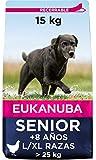 Eukanuba Comida seca para perros viejos de razas grandes con pollo 15 kg