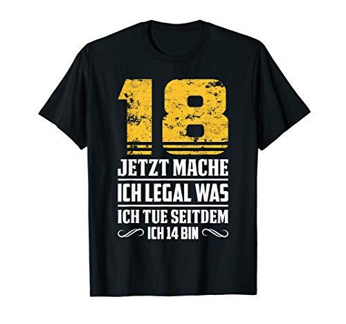 T-Shirt 18. Geburtstag Jahre lustiger Spruch Junge Mädchen