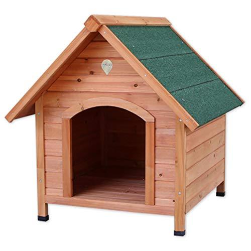 Caseta para perros Nobleza, estructura de madera con tejado verde a dos aguas, alto 81cm. Envío gratis