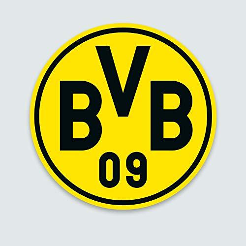 FANSAT Motiv: Borussia Dortmund BVB 09 Wandcover mit LED Beleuchtung - Fußballmannschafts Wappen für echte Fans - Fanartikel Bundesliga Sportverein Fußball Wandbild Ballspielverein Borussia 09 e.V.
