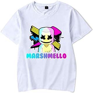2019 DJ Electronic music marshmello Short sleeve rock teenager boy/girl hip-hop hoodies student T-Shirt men/women (4,XS)