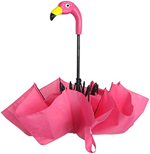 """popular Whimsical, Fashionable and Fabulous 27"""" Compact Folding lowest Flamingo discount Handle Umbrella By SkyMall sale"""
