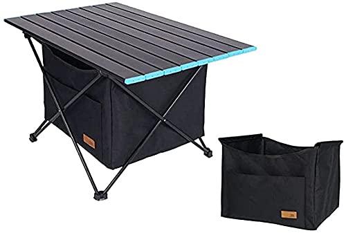 Dpliu Mesa de Picnic Ligera de Mesa de Camping portátil con Mesa de la Mesa de Aluminio Mesa de Playa Desmontable para Patera de Pesca al Aire Libre Barbacoa Fiesta, 280 * 280 * 227mm