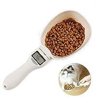 SiFree ペットフードスプーン 匙を測る 猫と犬の電子量スプーン ポータブルキッチンデジタルスプーン ペットツール