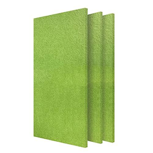 YMQ 0.35' Paneles acústicos autoadhesivos Paquete de 3 Paneles de Pared acústicos Acolchados, Tratamiento acústico para Estudio de grabación, Oficina, Estudio doméstico(Color:Pasto Verde)