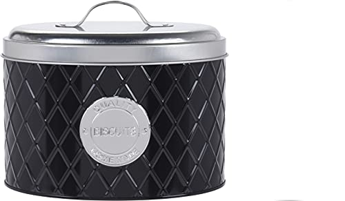 Oval Storage Tins – with Lid Embossed – Cookie Tins – Airtight Biscuit Container – Biscuits...