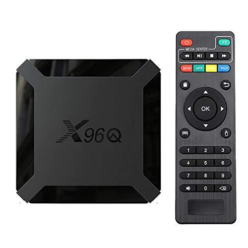 Android 10.0 TV-Box, X96 Mini 2021 Aktualisierte Version X96Q 2GB RAM 16GB ROM Smart-TV-Box Allwinner H313 Quad-Core-Unterstützung 4K 3D-Set-Top-Box X96 Mini WiFi Home Media Player
