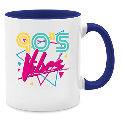 Statement Tasse - 90's Vibes - Unisize - Dunkelblau - Spruch - Q9061 - Kaffee-Tasse inkl. Geschenk-Verpackung