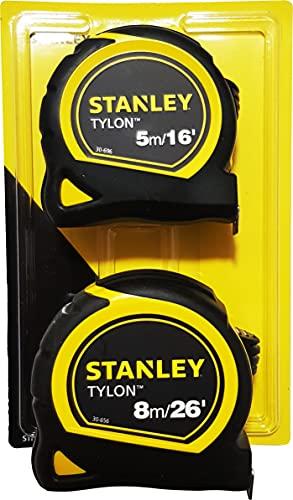 Stanley Tylon 5M & 8M Tape Measures, Pack of 2