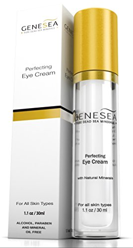 Genesea Eye Cream moisturizer - Helps Reduce Aging Appearance of Puffiness, Dark Circles, Crow's Feet & Wrinkles Under Eyes w/Witch Hazel, Vitamin E, Natural Minerals & Botanical Extracts - 1.1 Fl oz