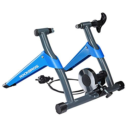 YLCJ Indoor Cycle Trainer Hochleistungs-Stable-Bike Stationärer Reitständer Geschwindigkeit Einstellbarer Ständer mit variablem Widerstand Faltbarer Turbo-Trainer für Straßen- und Mountainbike-Rollen